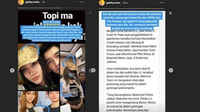 Borok Lucinta Luna Diungkap Gebby Vesta di Instagram Setelah Diciduk Polisi Akibat Narkoba