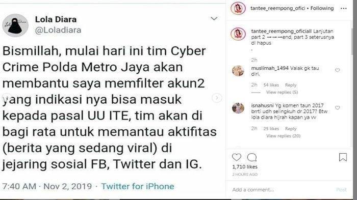 Profil Lola Diara, Mencuat Usai Bom Sarinah, Jualan Kaos Turn Back Crime, Kini viral di Twitter