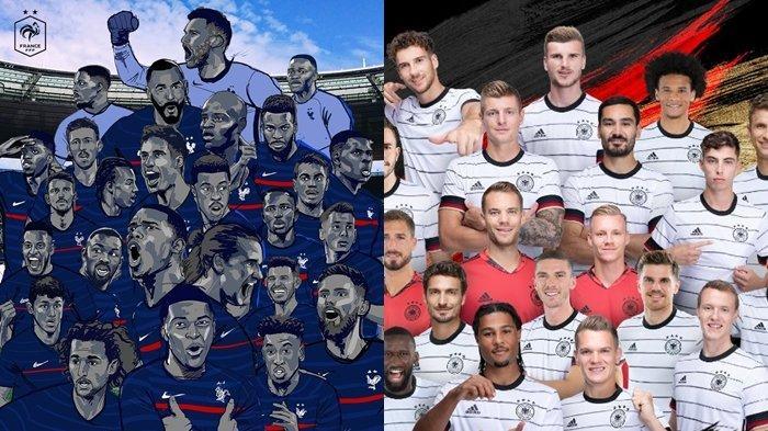 Jam Tayang Siaran Langsung Euro 2020 Malam Ini, Portugal vs Hungaria, Prancis vs Jerman, Live RCTI