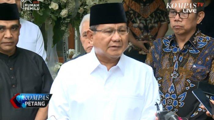 Sesudah Melayat di Kediaman SBY, Prabowo Bicara soal Pertemuan dengan Jokowi