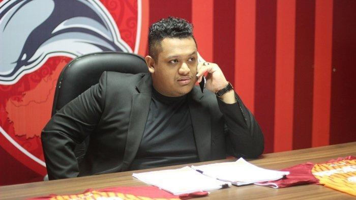 Presiden  Borneo FC Nabil Husein di  Stadion Segiri , Selasa  (30/8/2016).