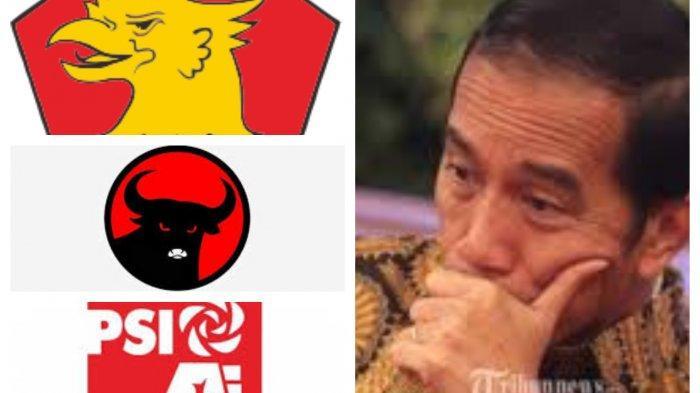 Nyaris Tak Ada yang Dukung Presiden Jokowi Tiga Periode, Ini Respon PSI dan PDIP dan Gerindra