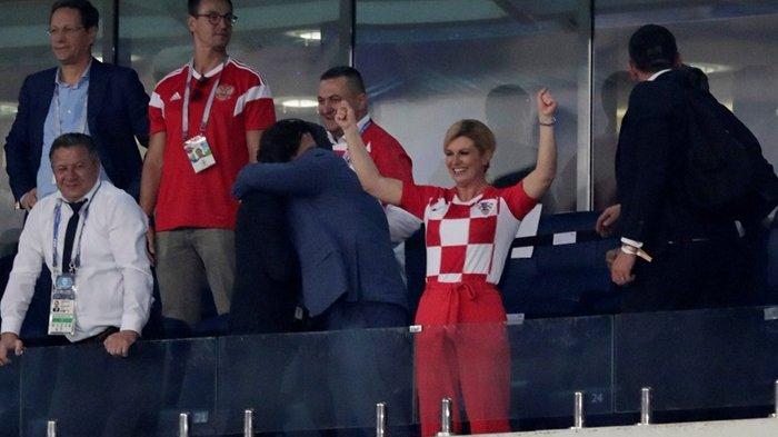 Histeria Presiden Kroasia Kolinda Grabar-Kitarovic di Piala Dunia 2018