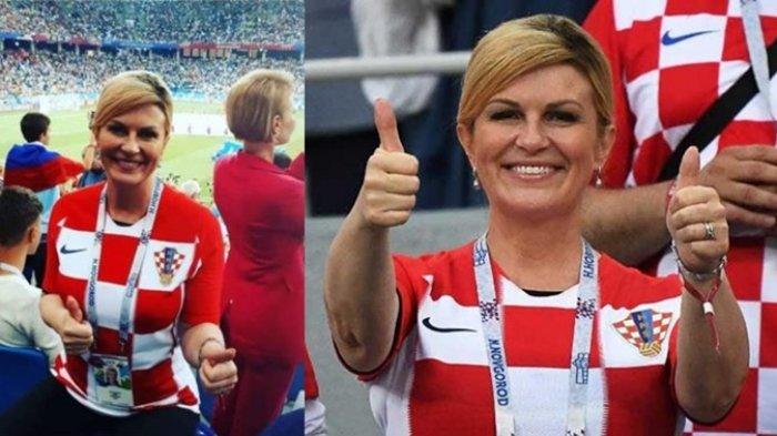 Terbang ke Rusia Dukung Timnya Bertanding, Penampilan Cantik Presiden Kroasia Curi Perhatian