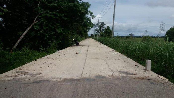 Pembangunan Jalan Oloy di Muara Muntai Kukar Sudah 95 Persen