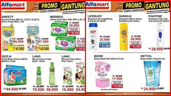 Promo Alfamart Hari ini Rabu 1 September 2021, Pampers Anak, Pasta Gigi dan Minyak Kayu Putih Murah