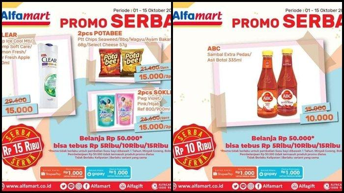 Promo Alfamart Hari ini Kamis 14 Oktober 2021, Ada Serba Rp 5.000, 10.000 hingga Rp 15.000