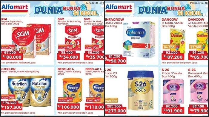 Promo Alfamart Hari ini Jumat 23 Juli 2021, Belanja Susu Anak Super Murah dan Ada Diskon 41 %