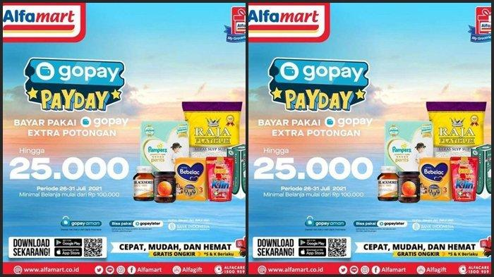 Katalog Promo Alfamart Hari ini Sabtu 24 Juli 2021, Pembayaran Gunakan Gopay, ShopeePay Jadi Murah