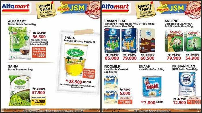 Promo Alfamart Hari ini Sabtu 3 Juli 2021, Belanja Minyak Goreng, Beras dan Susu Anak Murah Banget