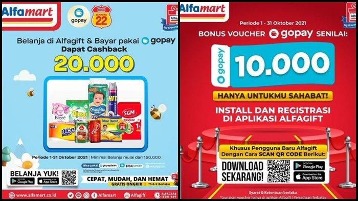Promo Alfamart Hari ini Rabu 6 Oktober 2021, Melakukan Pembayaran Pakai Gopay Ada Casback Rp 20.000