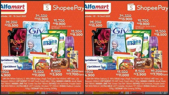 KATALOG PROMO Alfamart Senin 7 Juni 2021, Belanja Pakai Shopee Pay Jadi Super Murah