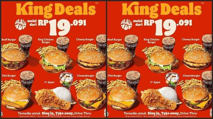 KATALOG PROMO Burger King Selasa 8 Juni 2021, Burger dan Minum Mulai dari Rp 19. 091