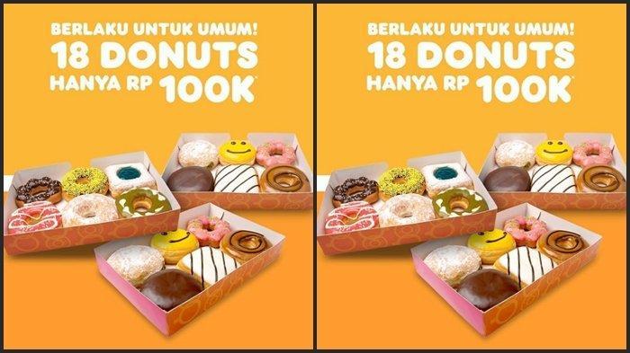 KATALOG PROMO Dunkin Donuts Selasa 15 Juni 2021, Dapatkan 18 Donuts Rp 100.000, Ini Syaratnya