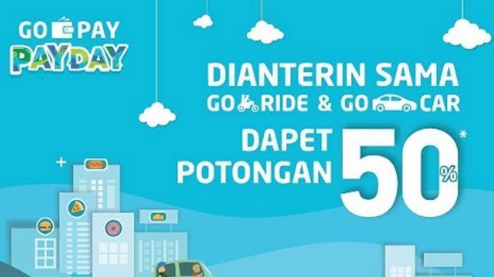 Promo Gojek Bayar Pakai Gopay Diskon 50 Untuk Layanan Goride Dan Gocar Cek Kode Promonya Tribun Kaltim