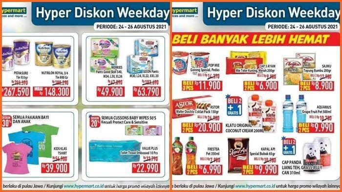 Promo Hypermart Hari ini Rabu 25 Agustus 2021, Ada Diskon 40 % dan Beli Banyak Jadi Lebih Hemat