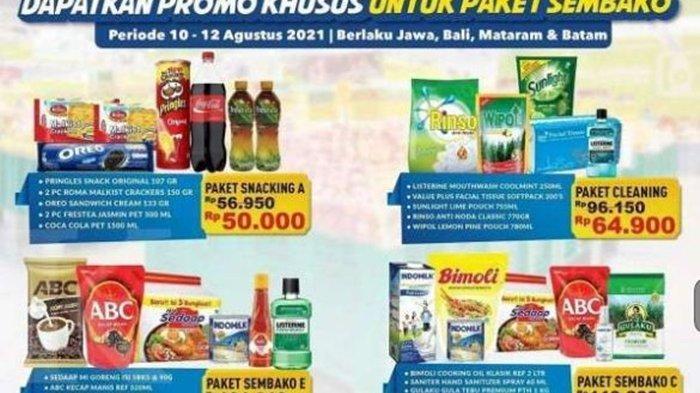 Promo Hypermart Hari ini Rabu 11 Agustus 2021, Ada Paket Sembako Murah Mulai dari Rp 50.000