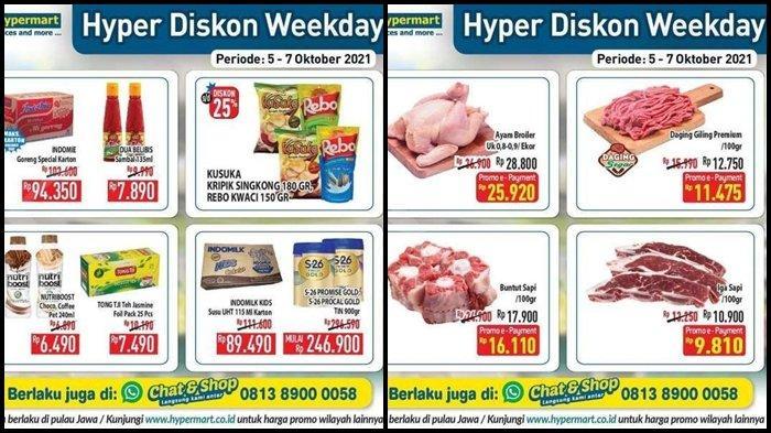 Hari Terakhir Promo Hypermart Periode 5-7 Oktober 2021, Ayam Broiler, Iga Sapi dan Susu Anak Murah