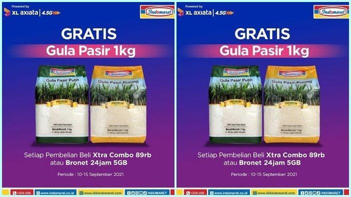 Promo Indomaret Hari ini Selasa 14 September 2021, Dapatkan Gula Pasir Gratis 1 Kg, Ini Syaratnya