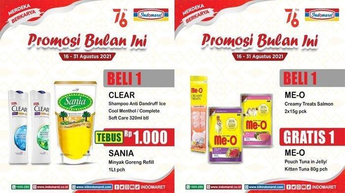 Promo Indomaret Hari ini Jumat 20 Agustus 2021, Beli Shampoo Bisa Tebus Murah Minyak Goreng Rp 1000