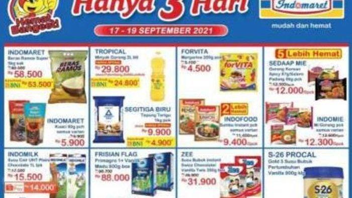 Promo JSM Indomaret Hari ini Sabtu 18 September 2021, Belanja Kebutuhan di Akhir Pekan Super Hemat