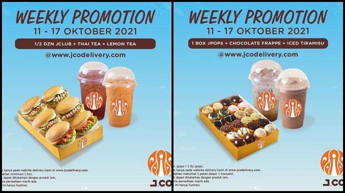 Promo J.CO Hari ini Rabu 13 Oktober 2021, Dapatkan 1 Box JPOP dan 2 Minuman dengan Harga Rp 110.000
