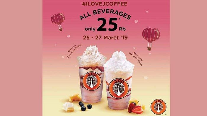 Promo J.CO Hari Ini sampai Rabu (27/3/2019), Nikmati JCoffee Segala Varian Cukup Bayar Rp 25 Ribu