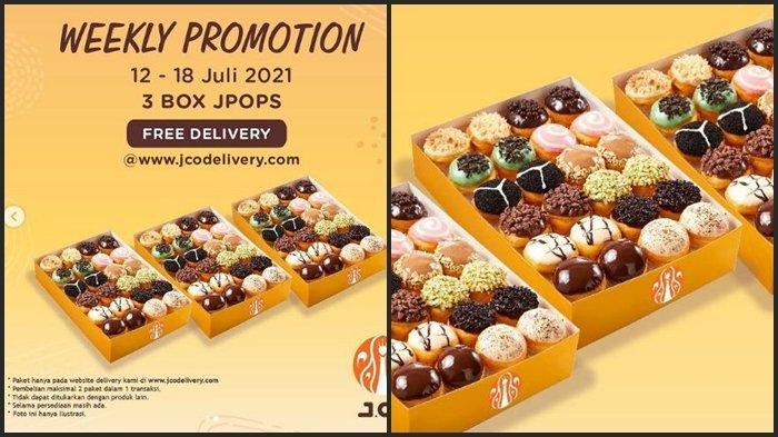 Promo J.CO Hari ini Jumat 16 Juli 2021, Dapatkan 6 lusin Donat JPOPS Harga Spesial Rp 127.000