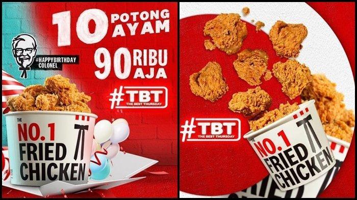 Promo KFC Hari ini Kamis 16 September 2021, Makan Berdua Hemat hingga 10 Potong Ayam Rp 90.000
