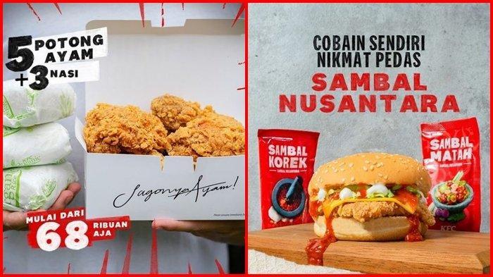 Promo KFC Hari ini Jumat 27 Agustus 2021, Beli Paket 5 Ayam dan 3 Nasi Rp 68.000
