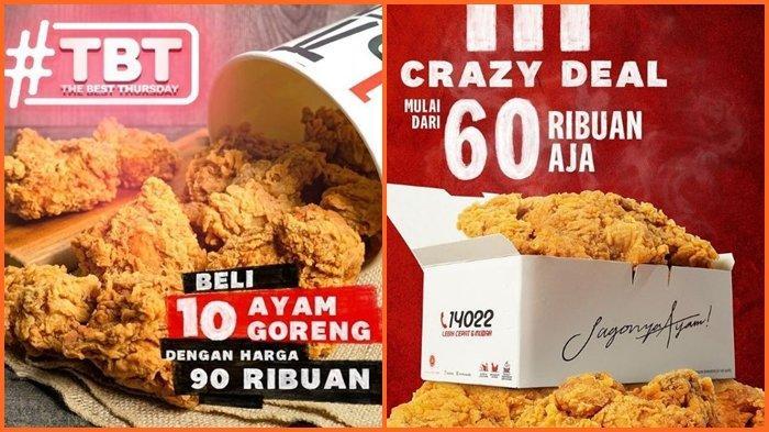 Promo KFC Hari ini Kamis 19 Agustus 2021, Makan Bersama Hemat, Beli 10 Ayam dengan Harga Rp 90.000