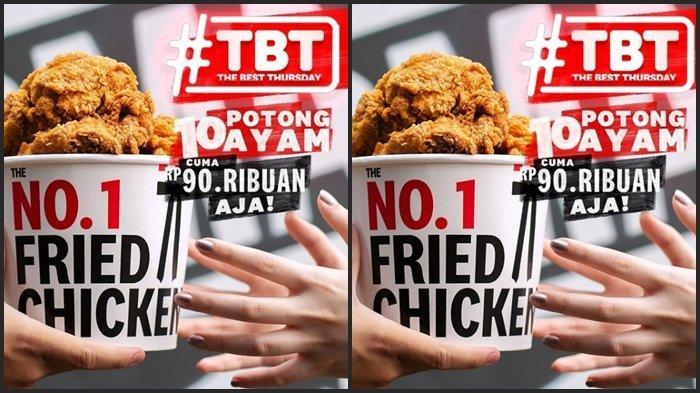 KATALOG PROMO KFC Kamis 3 Juni 2021, Dapatkan 10 Potong Ayam dengan Harga Rp 90.000