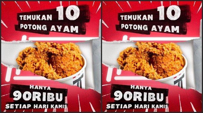Promo KFC Hari ini Kamis 22 Juli 2021, Dapat 10 Ayam Harganya Rp 90.000, Makan Hemat