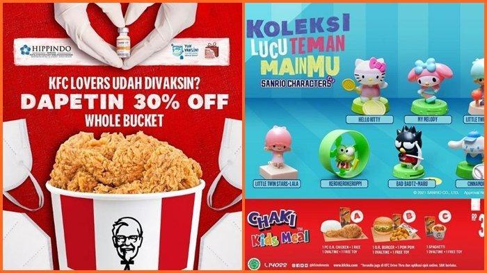 Promo KFC Rabu 25 Agustus 2021, Paket Chaki, 1 Ayam, Nasi, Minum dan Mainan Mulai dari Rp 36.364