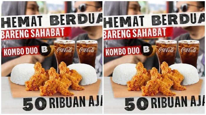 Promo KFC Hari ini Sabtu 11 September 2021, Makan Berdua di Akhir Pekan Super Hemat, Mulai Rp 50.000