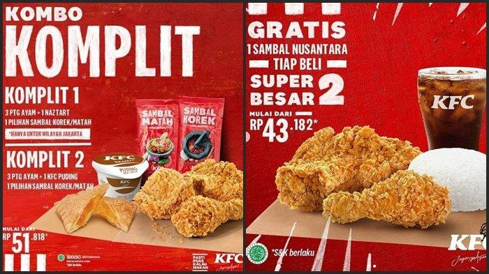 Promo KFC Hari ini Jumat 30 Juli 2021, Beli Paket Super Besar 2 Rp 43.182 Dapat Gratis Sambal Matah