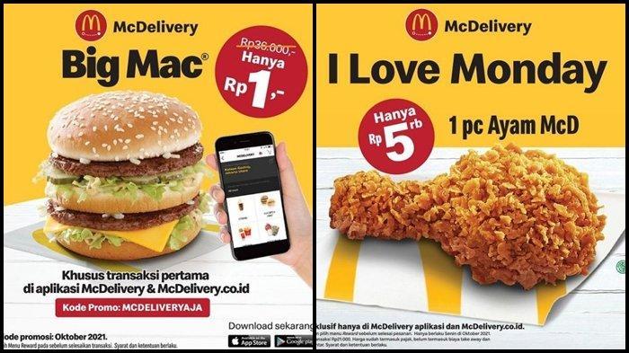 Promo McD Hari ini Kamis 7 Oktober 2021, Menu Big Mac dengan Harga Rp 1 Saja, Ini Syaratnya