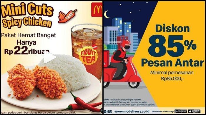 Promo McD Hari ini Kamis 16 September 2021, Paket Hemat Pasti Kenyang Mulai dari Rp 22.000