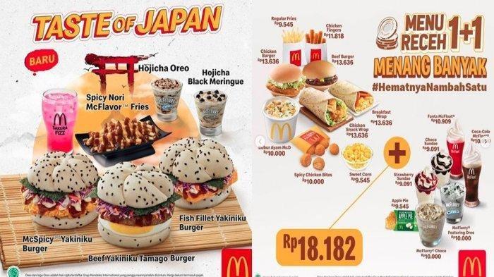 Banyak Promo di McDonalds, Menu Receh 1+1, Gratis Ayam, Toffee Coffee hingga Taste of Japan