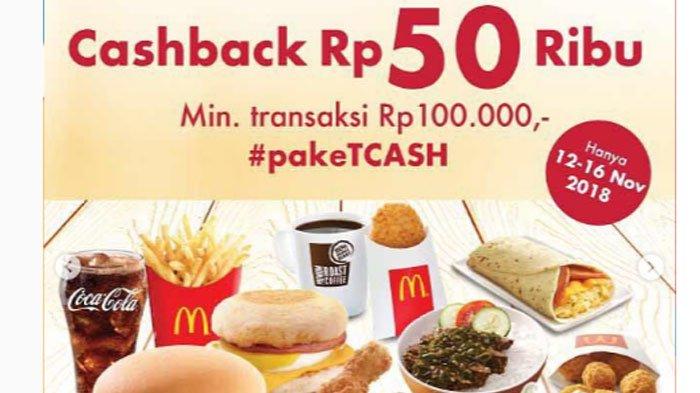 Promo November - McDonald's Beri Cashback Rp 50 Ribu untuk Menu Apapun, Begini Caranya