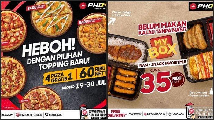 Promo Pizza Hut Delivery Hari ini Jumat 30 Juli 2021, Beli 4 Gratis 1 Hanya dengan Harga Rp 60.000