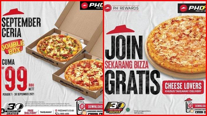 Promo Pizza Hut Hari ini Kamis 2 September 2021, Dapatkan Double Box dengan Harga Rp 99.000