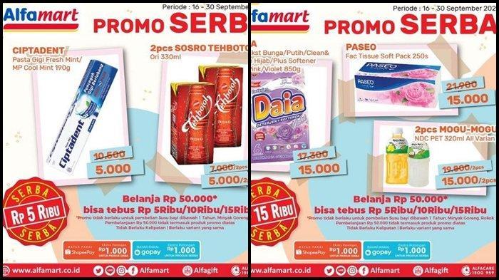 Promo Alfamart Hari ini Selasa 28 September 2021, Ada Serba Rp 5.000 dan Diskon Barang hingga 50 %