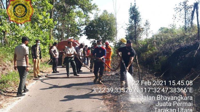 Kebakaran Lahan di Juata Permai Tarakan, Merambat Cepat ke Gedung KUA dan Panti Jompo Kaltara