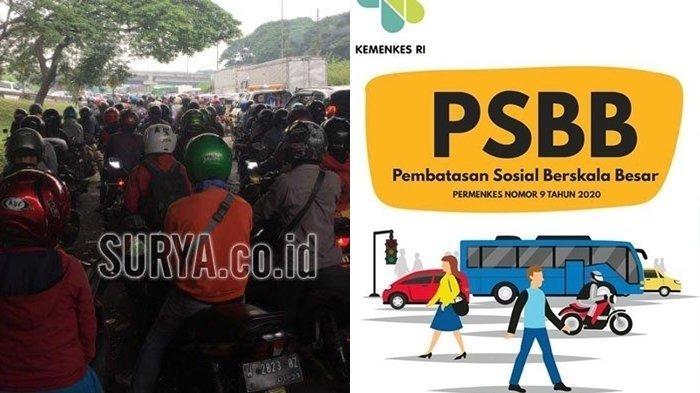 Hari Pertama PSBB Surabaya, Pintu Masuk Menuju Wilayah Risma Macet Parah, Ini yang Terjadi
