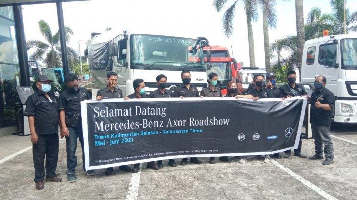 Dukung IKN, PT BKM dan PT BBM Perkenalkan Unit Truk Pengolah Semen Milik Mercedes Benz
