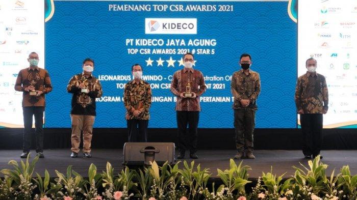 Kideco Jaya Agung Raih Tiga Penghargaan Bintang Lima Top CSR Award 2021