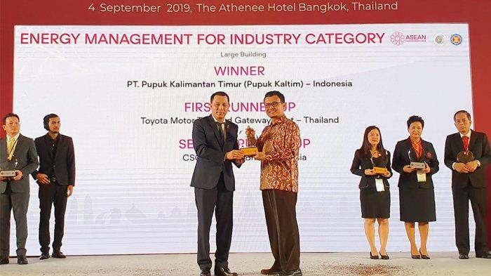 Sukses Implementasikan ISO 50001, Pupuk Kaltim Raih Penghargaan ASEAN Energy Awards 2019