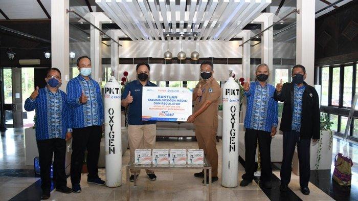 Dukung PTM, Pupuk Kaltim Salurkan 4 Unit Tabung Oksigen bagi Sekolah Muhammadiyah Bontang