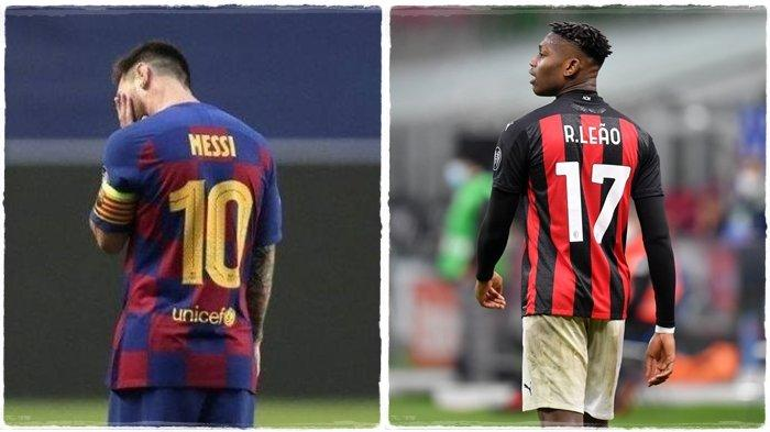 Berita AC Milan - Libatkan Ronaldo, Barcelona Buru Striker Muda Rossoneri Sebagai Penerus Messi